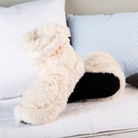 Cozy Boots™ Cream Microwavable Slipper Boots - Boots Gifts