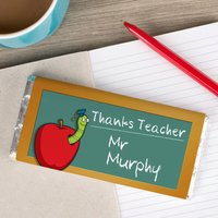 Personalised Chocolate Bar - Thanks Teacher - Teacher Gifts