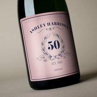 Luxury Personalised Champagne - Pink Vintage