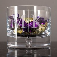 Personalised Glass Bowl - Initials - Bowl Gifts