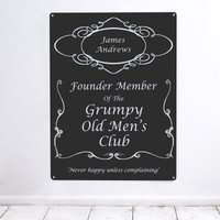 Personalised 'Grumpy Men' Metal Sign - Grumpy Gifts