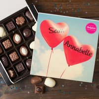 Personalised Belgian Chocolates - Love Hearts - Chocolates Gifts