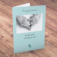 Personalised Card - Congratulations New Baby - Baby Gifts