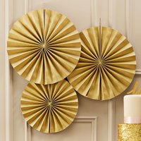 Pastel Perfection Gold Circle Fan Decorations - Decorations Gifts