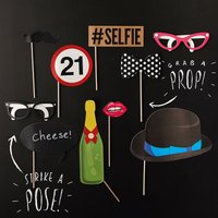 21st Birthday Photo Booth Props - 21st Gifts