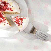 Engraved Silver Slipper Cake Server