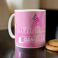 Personalised Mug - Sweet 16 - 16th Birthday Gifts