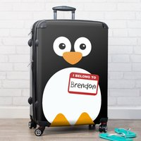 Personalised Suitcase - Penguin - Penguin Gifts