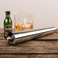 Personalised Long Stem 8oz Hip Flask - Any Message - Hip Flask Gifts