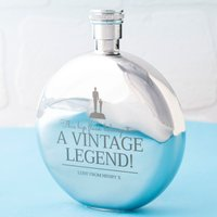 Engraved Round Hip Flask - Vintage Legend - Hip Flask Gifts