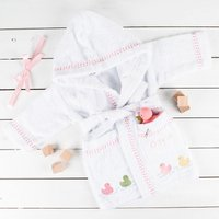 Personalised Baby's Dressing Gown for Girls - Dressing Gown Gifts