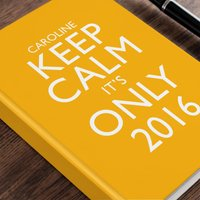 Personalised Diary - Keep Calm It's Only, Orange - Orange Gifts