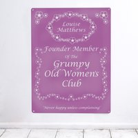 Personalised 'Grumpy Women' Metal Sign - Grumpy Gifts