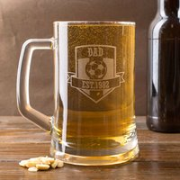 Personalised Pint Tankard - Football Badge - Football Gifts