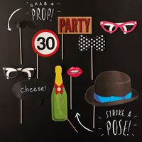 30th Birthday Photo Booth Props - 30th Gifts