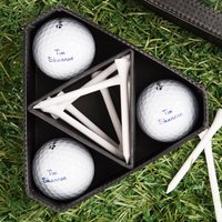 Personalised Golf Ball & Tee Gift Set - Golf Gifts