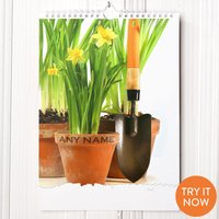 Personalised Gardening Calendar - 2nd Edition - Gardening Gifts