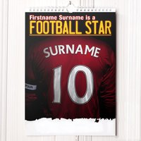 Personalised Football Calendar - 2nd Edition - Football Gifts