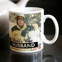 Photo Upload Mug - World's Best Husband - Husband Gifts