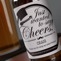 Personalised Beer - Just Wanted To Say Cheers - Beer Gifts