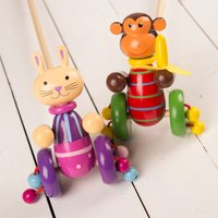Personalised Wooden Push Along Toy - Gadgets Gifts