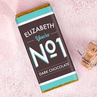 Personalised Dark Chocolate Bar - No1 - Dark Chocolate Gifts