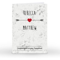 Personalised Card - Congratulations On Your Engagement - Engagement Gifts