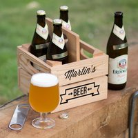 Personalised Wooden Beer Holder Crate - Beer Gifts