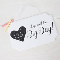 Wedding Date Plaque - Days Until The Big Day