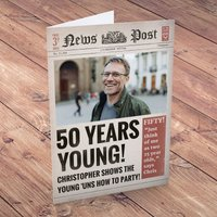 Photo Upload Card - News - 50 Years Young - News Gifts