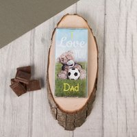 Personalised Me To You Chocolate Bar - Football Dad, Tatty Teddy - Football Gifts