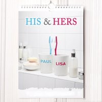 Image of Personalised His and Hers Calendar - 1st Edition