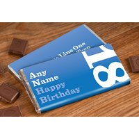 Personalised Chocolate Bar - 18th Birthday for Him - 18th Gifts