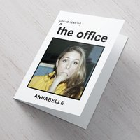 Photo Upload Card - Leaving The Office - Office Gifts