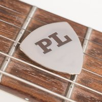 Engraved Guitar Plectrum - Initials - Guitar Gifts