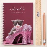 Personalised Notebook - Style Kitten - Kitten Gifts