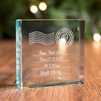 Personalised Glass Token - Special Xmas Delivery - Xmas Gifts