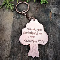 Personalised Copper Tree Key Ring - Any Message - Key Ring Gifts