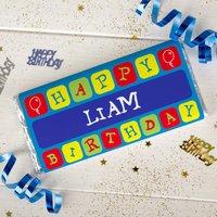 Personalised Chocolate Bar - Birthday Balloons - Balloons Gifts