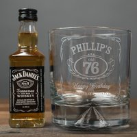 Personalised Birthday Whisky Tumbler and Jack Daniels Miniature - Getting Personal Gifts