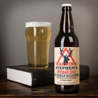 Personalised Beer - Stag Do (No Girls Allowed) - Stag Night Gifts