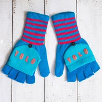 'YOLO' Knitted Gloves - Knitted Gifts