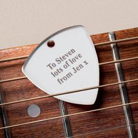 Engraved Guitar Plectrum - Music Gifts
