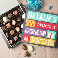 Personalised Belgian Chocolates - Present - Present Gifts