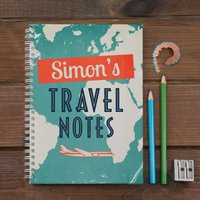 Personalised Notebook - Travel Notes - Travel Gifts