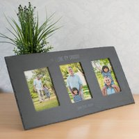 Personalised Triple Slate Photo Frame - I Love My Grandad - Grandad Gifts