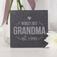 Image of Engraved Slate Tile - World's Best