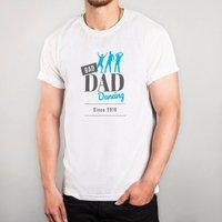 Personalised White T-Shirt - Bad Dad Dancing - Dancing Gifts
