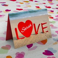 Personalised Card - Love Sand - Sand Gifts