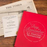 Original Newspaper From 1957 (60th Birthday) - 60th Birthday Gifts